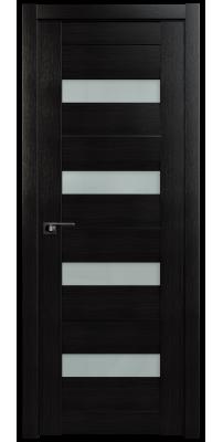 Межкомнатная дверь 60X AL венге мелинга, стекло матовое