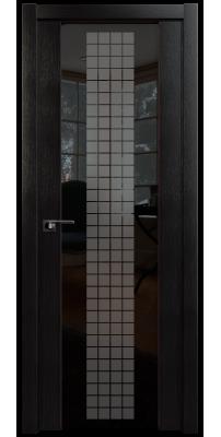 Межкомнатная дверь 8X венге мелинга, стекло futura чёрный
