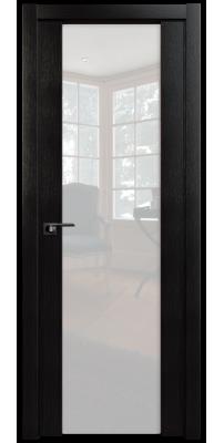 Межкомнатная дверь 8X венге мелинга, стекло триплекс белый