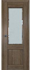 Межкомнатная дверь 2.42XN солинас темный, стекло square матовое