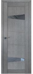 Межкомнатная дверь 2.84XN грувд, стекло прозрачное
