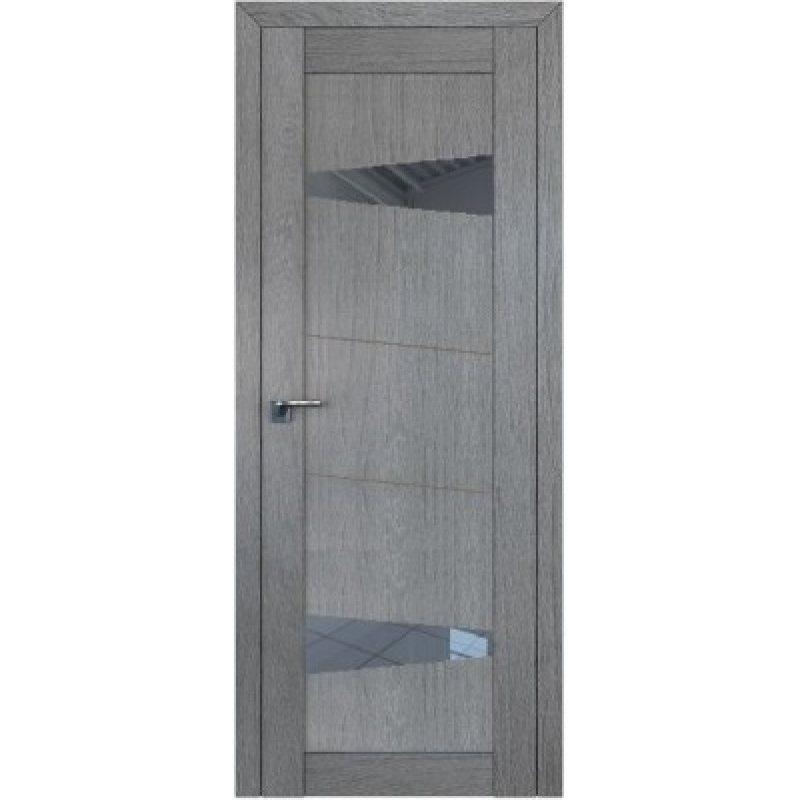 Межкомнатная дверь 2.84XN грувд, стекло графит