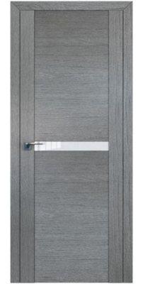 Межкомнатная дверь 2.01XN грувд, стекло белый лак