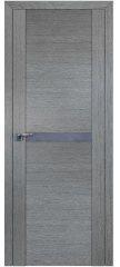 Межкомнатная дверь 2.01XN грувд, стекло матовое серебро