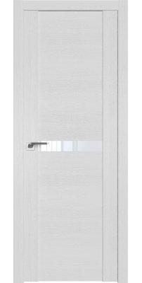 Межкомнатная дверь 2.01XN монблан, стекло белый лак
