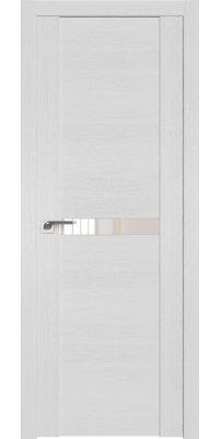 Межкомнатная дверь 2.01XN монблан, стекло перламутровый лак