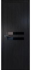 Межкомнатная дверь 2.03XN даркбраун, стекло черный лак