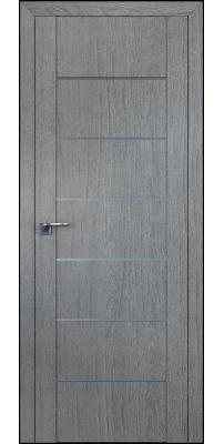 Межкомнатная дверь 2.07XN грувд AL молдинг, глухая