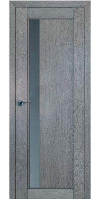 Межкомнатная дверь 2.71XN грувд , стекло графит