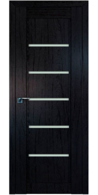 Межкомнатная дверь 2.76XN даркбраун, стекло матовое