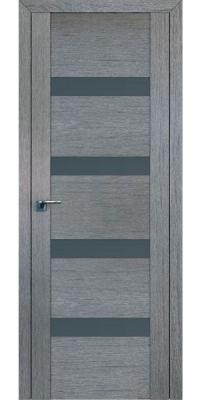 Межкомнатная дверь 2.81XN грувд, стекло графит