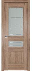 Межкомнатная дверь 94XN солинас светлый, стекло гравировка 1