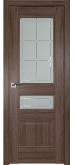 Межкомнатная дверь 94XN солинас темный, стекло гравировка 1