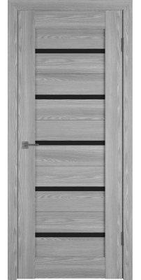 Межкомнатная дверь Line 1 grey P black gloss