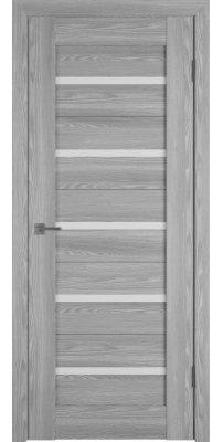 Межкомнатная дверь Line 1 grey P white gloss