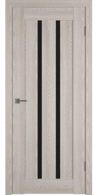 Межкомнатная дверь Line 2 cappuccino P black gloss