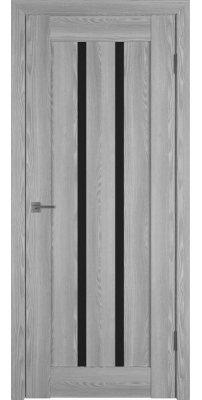 Межкомнатная дверь Line 2 grey P black gloss