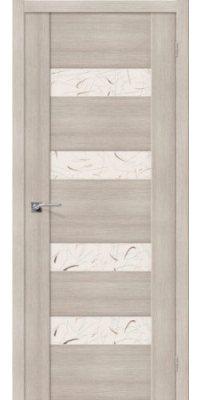 Межкомнатная дверь Vetro VМ4 Cappuccino Veralinga «Silver Art»