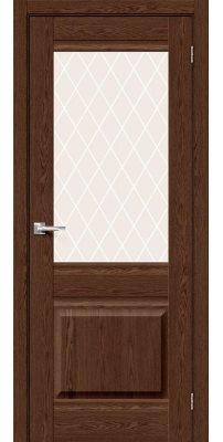 Межкомнатная дверь Прима-3 brown dreamline/white crystal
