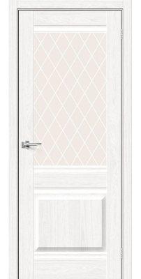 Межкомнатная дверь Прима-3 white dreamline/white crystal