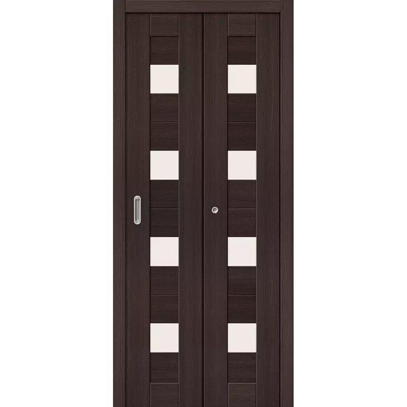 Межкомнатная складная дверь ПОРТА 23 wenge veralinga