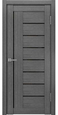 Межкомнатная дверь ЛУ-17 лакобель черный/серый