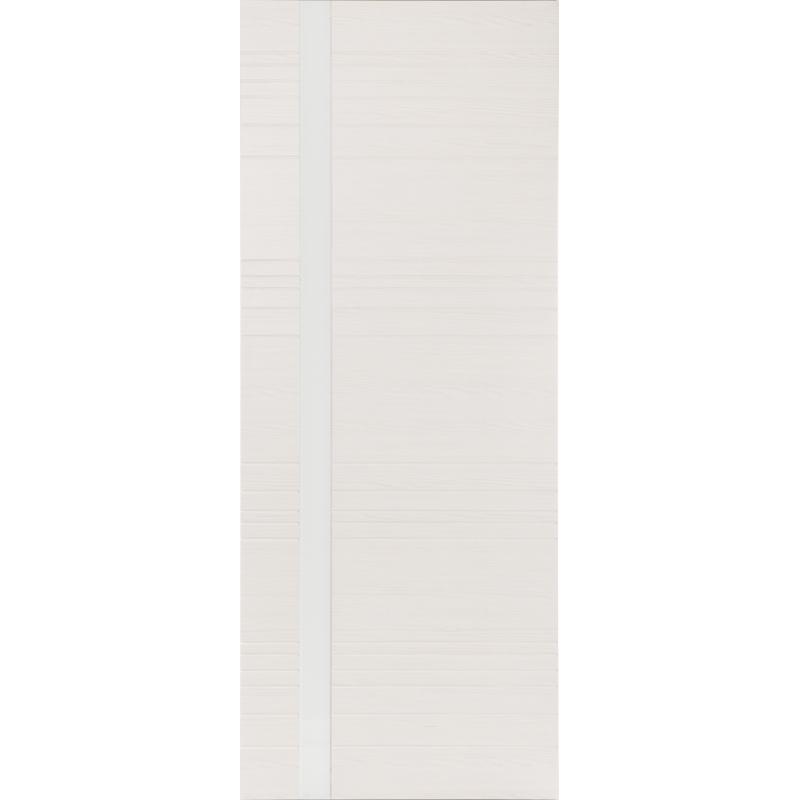 Межкомнатная дверь Гармония беленый дуб, стекло белый лак (кромка ПВХ)