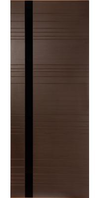 Межкомнатная дверь Гармония венге, стекло черный лак (кромка ПВХ)