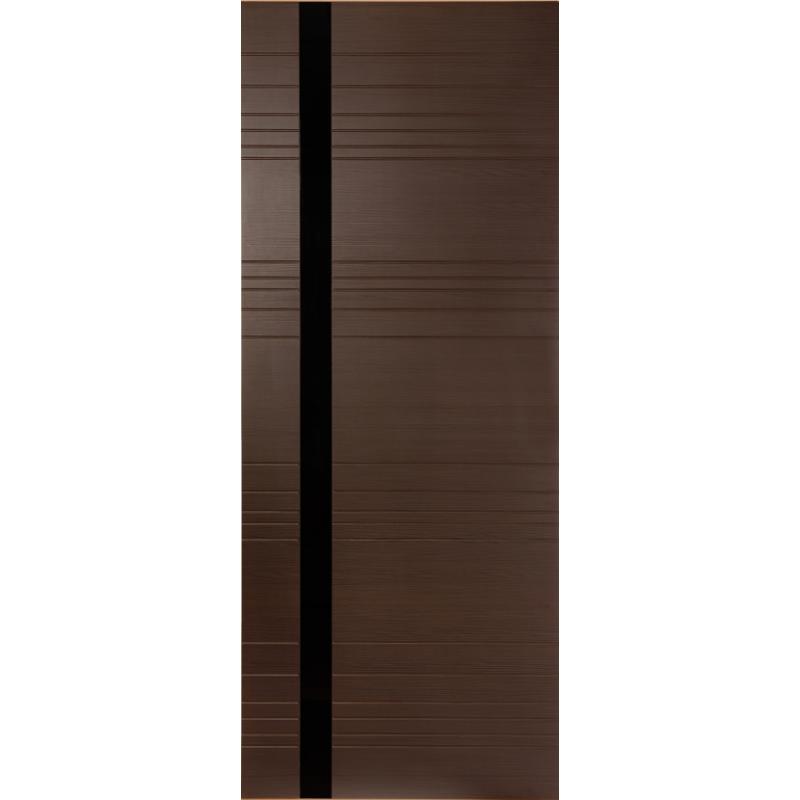 Межкомнатная дверь Гармония венге, стекло черный лак
