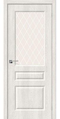 Межкомнатная дверь Скинни-15 casablanca/white crystal