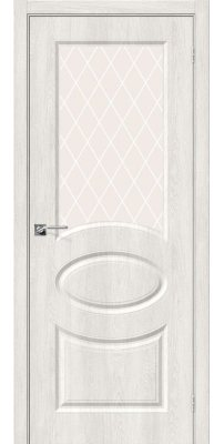 Межкомнатная дверь Скинни-21 casablanca/white crystal