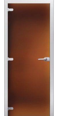 Межкомнатная дверь Бронза матовое стекло
