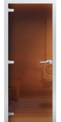 Межкомнатная дверь Бронза тонированное стекло