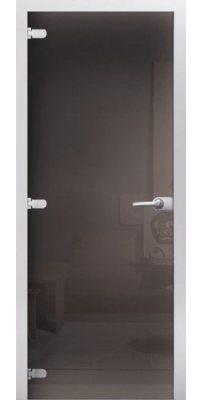 Межкомнатная дверь Графит тонированное стекло