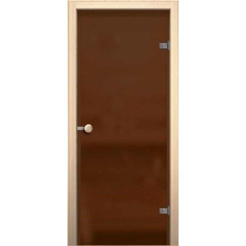 Дверной блок для сауны  Кноб Е бронза сатинато