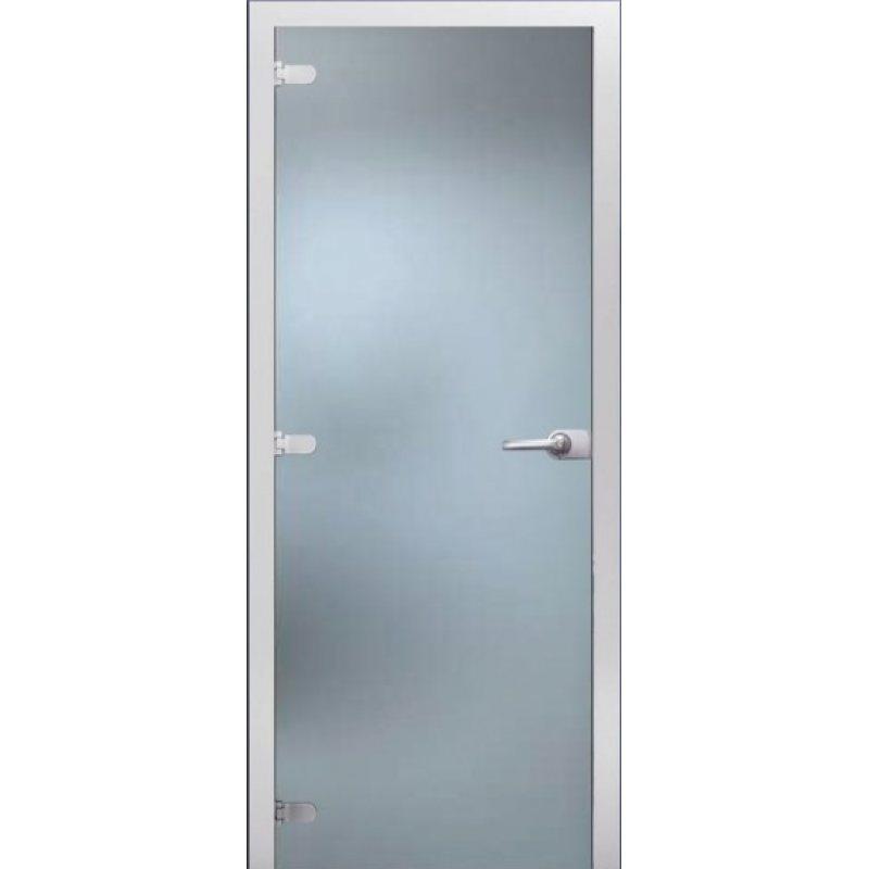 Межкомнатная дверь Матовое бесцветное стекло