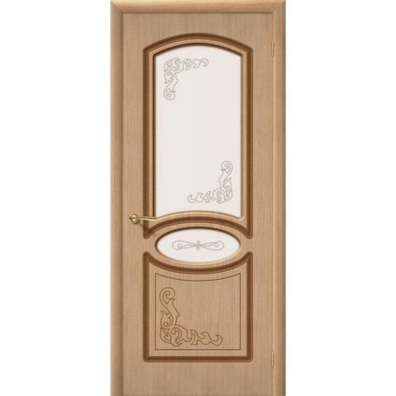 Межкомнатная дверь АЗАЛИЯ дуб ПО худ.