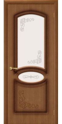 Межкомнатная дверь АЗАЛИЯ орех ПО худ.