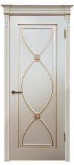 Межкомнатная дверь Фламенко эмаль тон RAL9001 патина золото ПГ