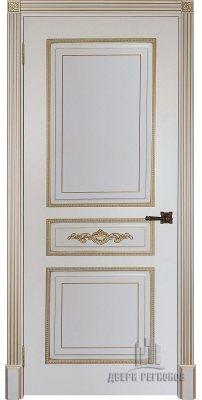 Межкомнатная дверь ЛАЦИО слоновая кость с золотой патиной ПГ