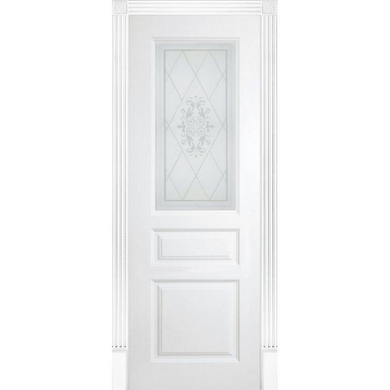 Межкомнатная дверь ТУРИН эмаль белая ПО