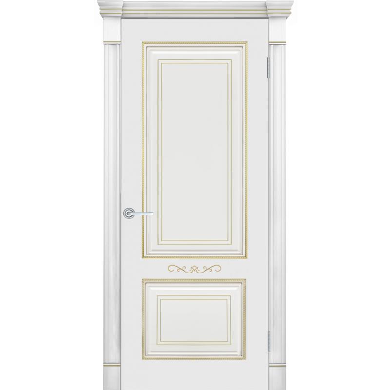 Межкомнатная дверь ФЕЛИСА, Ral 9010 патина золото ПГ