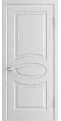 Межкомнатная дверь L-1 белая ПГ