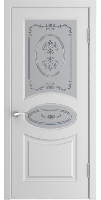 Межкомнатная дверь L-1 белая ПО