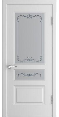 Межкомнатная дверь L-2 белая ПО