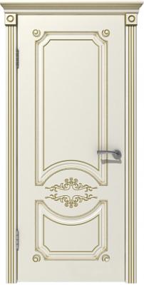 Межкомнатная дверь МИЛАНА эмаль слоновая кость/патина золото ПГ