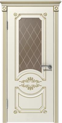 Межкомнатная дверь МИЛАНА эмаль слоновая кость/патина золото ПО