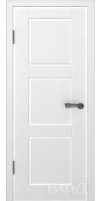 Межкомнатная дверь ТРИО белая ПГ