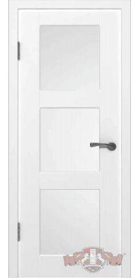 Межкомнатная дверь ТРИО белая ПО