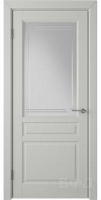 Межкомнатная дверь СТОКГОЛЬМ светло-серая эмаль ПО